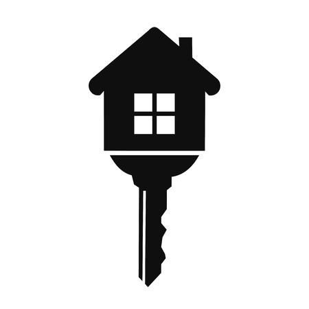 casa con el icono de la llave
