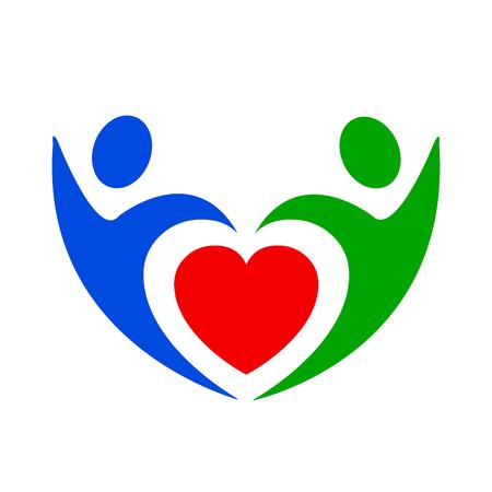 Volunteer icon, love Illustration