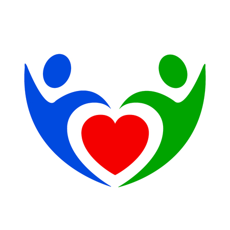 Volunteer icon, love Иллюстрация