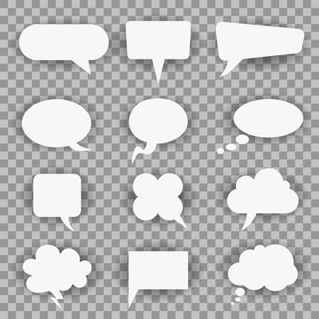 White twelve icons communication - for stock