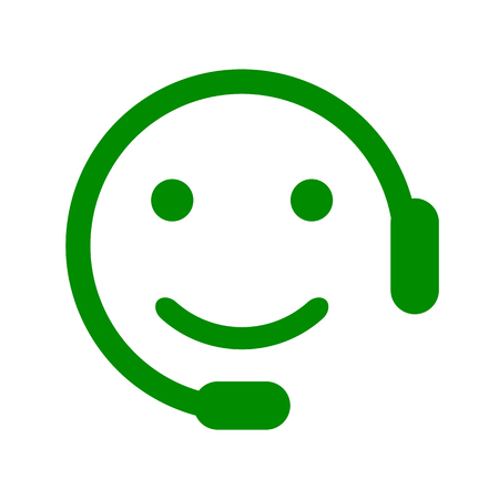 Positive dispatcher smilies, happy smiley emotion, by smilies, cartoon emoticon - for stock