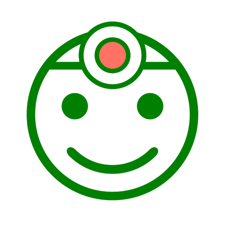Doctor icon smile Иллюстрация