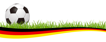 Soccer ball on the german flag