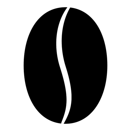 Coffee bean icon Illustration