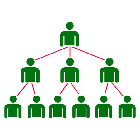 Bedrijfshiërarchie van de organisatie Vector Illustratie