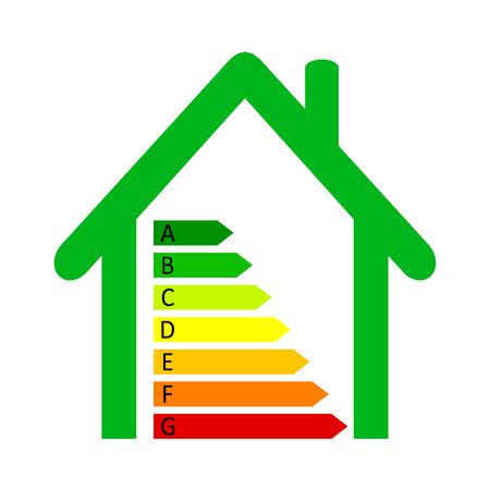 House energy classification Stock Illustratie