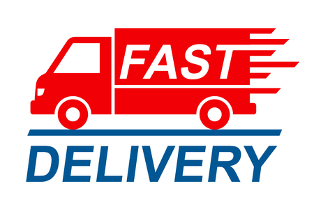 Fast shipping delivery truck, shipping service Banco de Imagens - 102151905