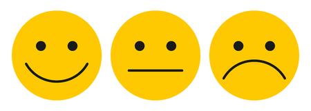 Three yellow smilies
