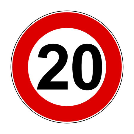 Speed limit signs of 20 km