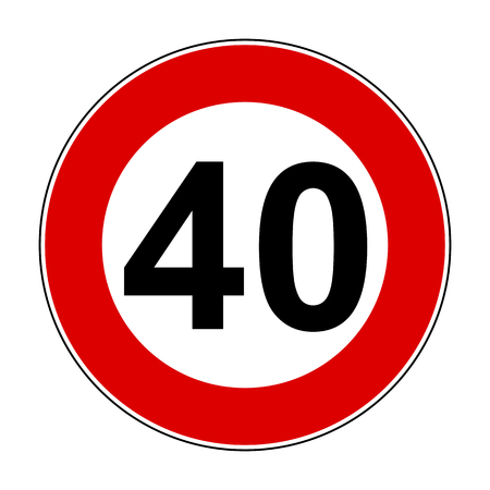 Speed limit signs of 40 km