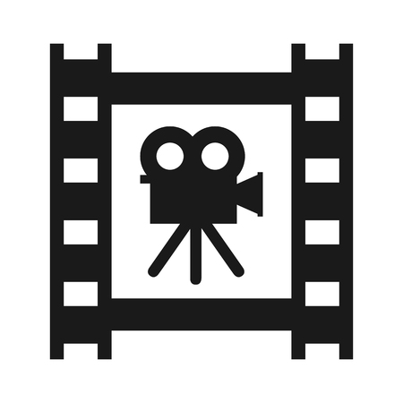 Cinema tape with camera - stock vector