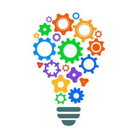Creative mechanism of generating ideas - stock vector