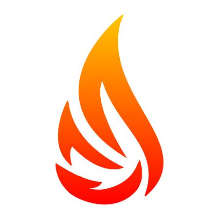 Fire icon symbol - stock vector