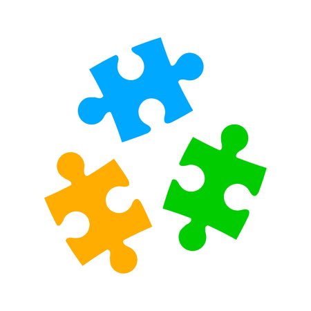 Three color puzzle - vector