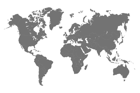 World Map with division of country - vector
