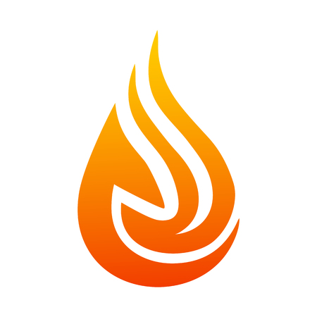 Creative fire logo with tongues of flame. Icon illustration for design - stock vector