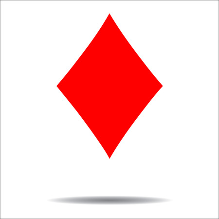 Diamonds card suit icon vector Иллюстрация