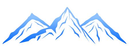 Blue mountain – vector Illustration
