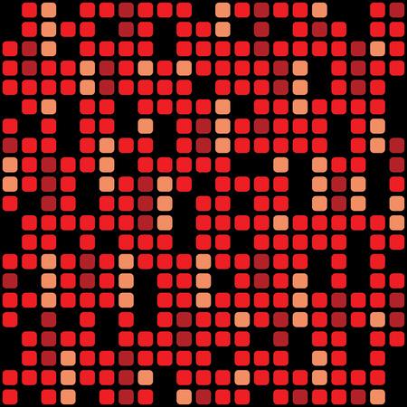 Red pixel background – stock vector