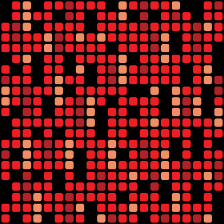 Red pixel background – stock vector