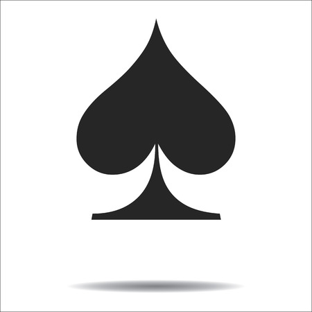 Spades card suit icon vector