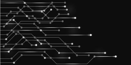 Geometric technology future background - stock vector Illustration