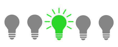 Creative creation ideas bulb, business idea - stock vector Illustration