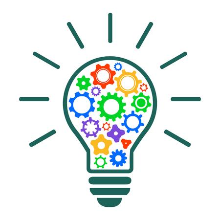 Mechanism of generating ideas - stock vector Vektoros illusztráció