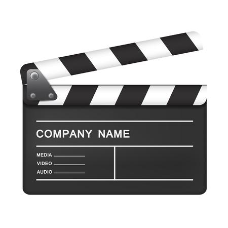 Realistic movie board – stock vector