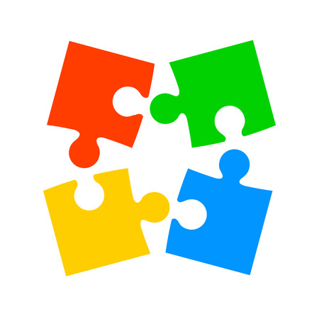 Four color puzzle - for stock Иллюстрация