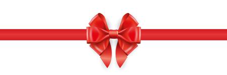 Gift decoration red ribbon - vector Иллюстрация
