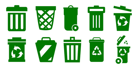 Set of trash can – stock vector