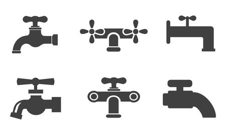 Set of water tap – stock vector Stock Illustratie