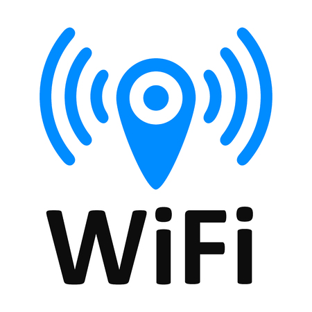 Wifi logo zone location – stock vector