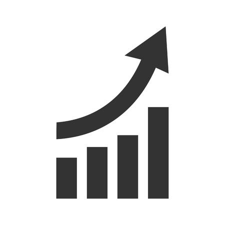 Gráfico de icono para arriba - vector de stock Ilustración de vector