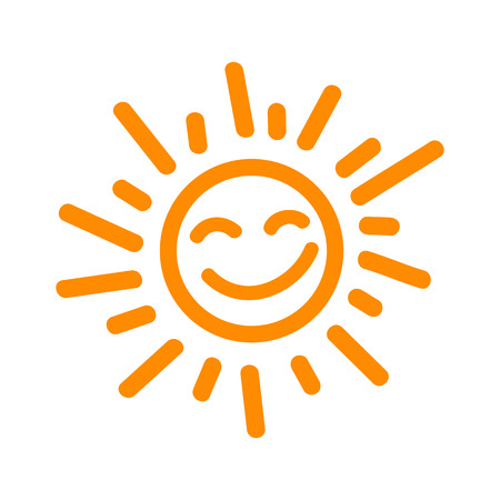 Drawn sun icons - stock vector Иллюстрация