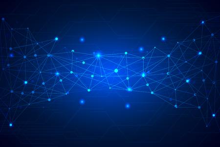 Geometric technology background. Vector illustration