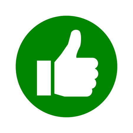 Thumb up, i like it, Yes – stock vector