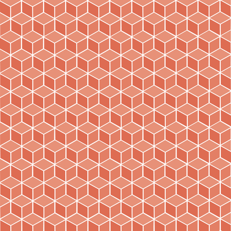 Cubic red geometric background – stock vector Иллюстрация