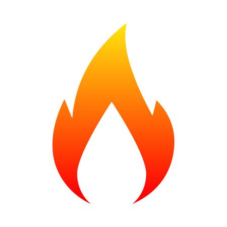 Neues Logo Feuer. Vektorillustration für Design - für Lager