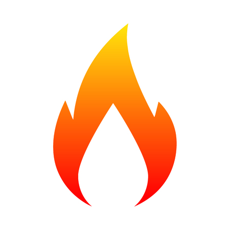 New logo fire. Vector illustration for design - for stock Illustration