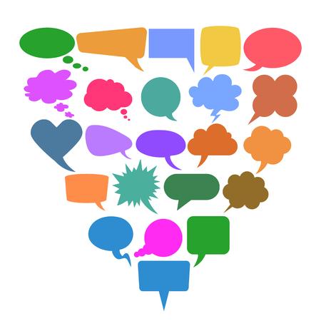 Set of twenty three icons communication