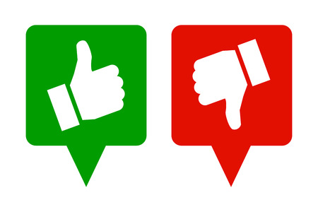 Thumb up and down - vector