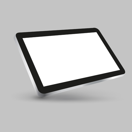Black tablet with white display in turn - for stock vector
