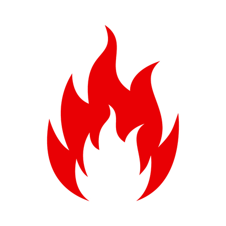 Flame. Five tongue fire. Icon illustration logo - vector