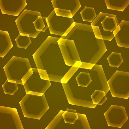 Beautiful futuristic hexagon background – stock vector