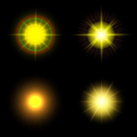 Set of sun. Abstract set sun background illustration for design. Stock vector Stock Vector - 102550520