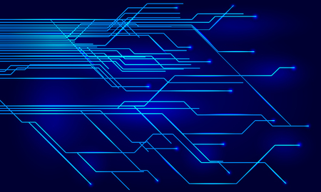 Geometric technology future background - vector for stock