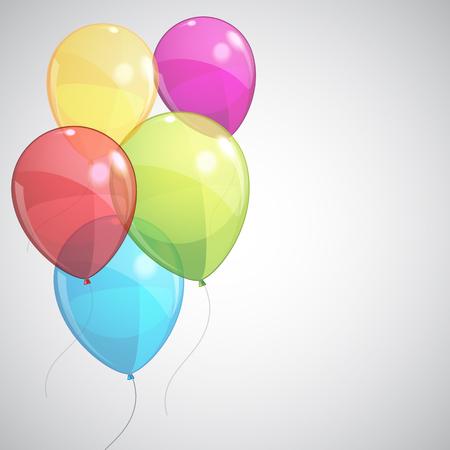 Colored helium balloons - stock vector Ilustração