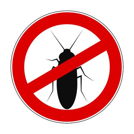 Sign ban anti cockroach - stock vector Stock Vector - 102553227